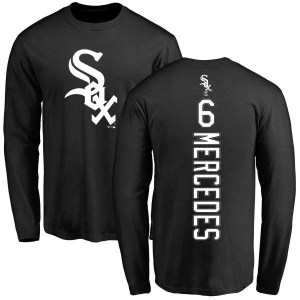 Yermin Mercedes Chicago White Sox Youth Black Backer Long Sleeve T-Shirt -