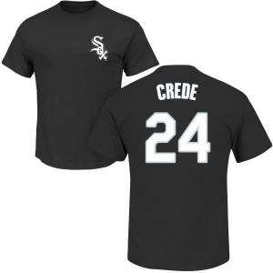 Joe Crede Chicago White Sox Youth Black Roster Name & Number T-Shirt -